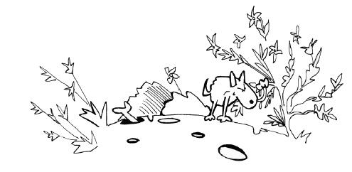 kutya gödröket ás