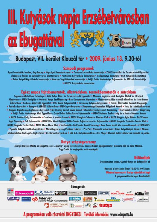 Kutyások napja Erzsébetvárosban az Ebugattával - 2009.06.13.
