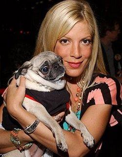 Tori Spelling és imádott kutyája, Mimi LaRue