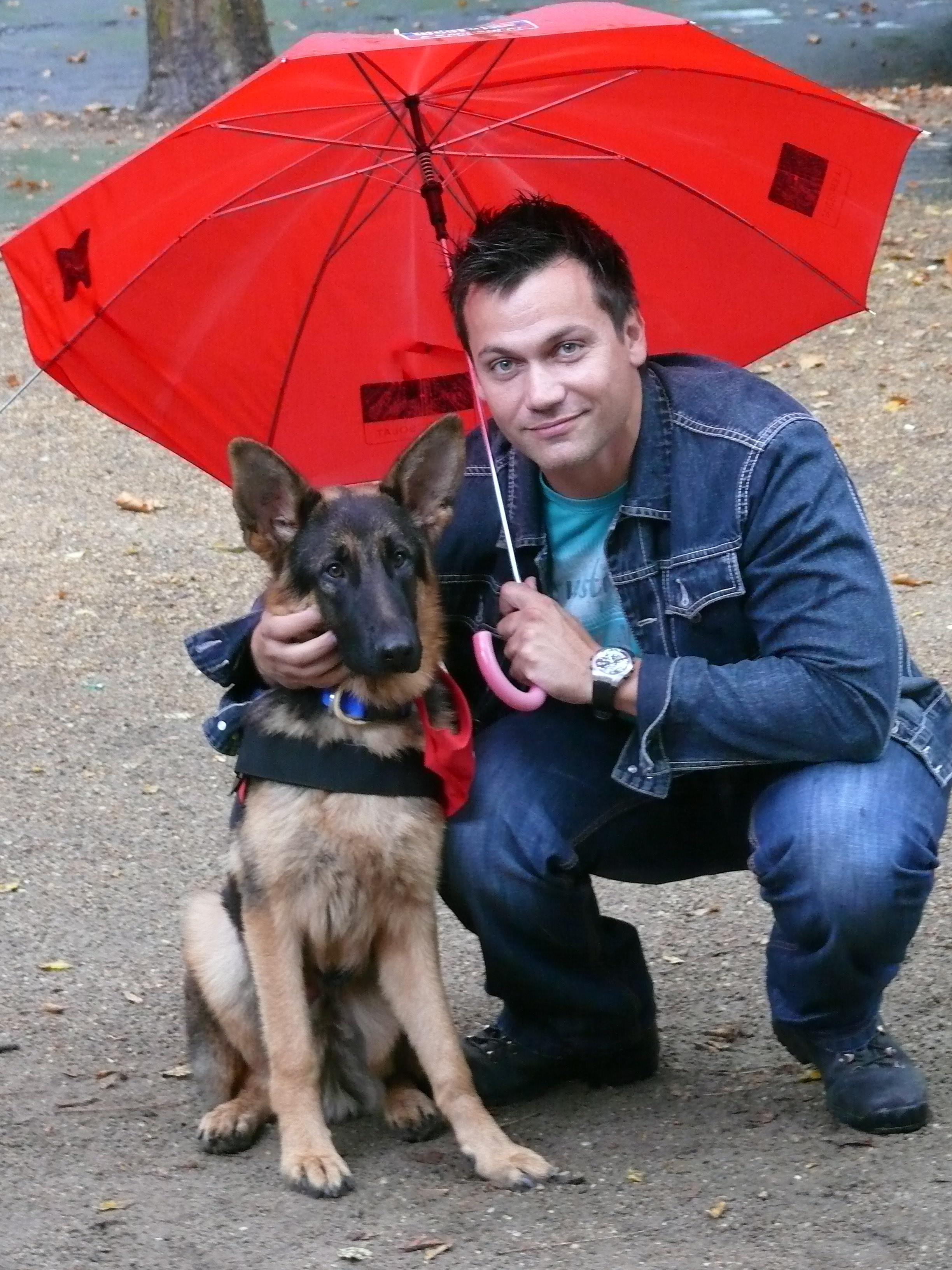 Kovács Áron és Duncan kutya