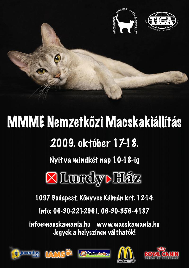 MMME Nemzetközi Macskakiállítás 2009. október 17-18