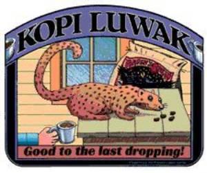 Kopi Luwak kávé reklám