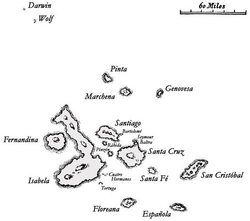 Galapagos térképe