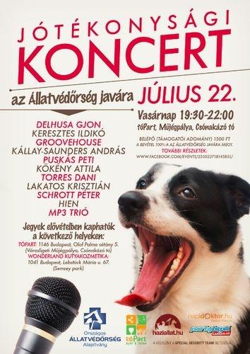 Jótékonysági koncert az Állatvédőrség javára!