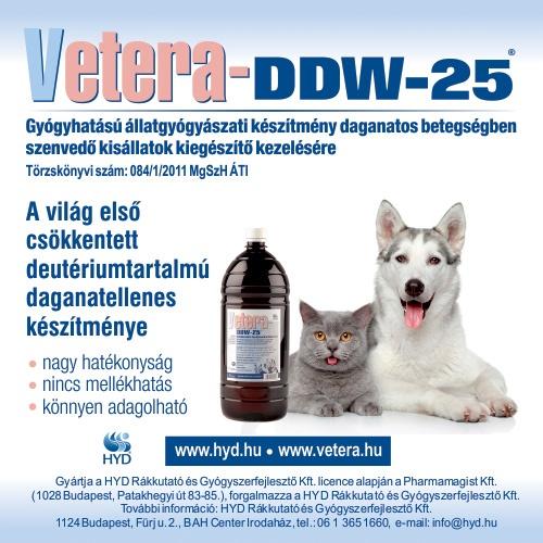 Vetera-DDW-25® állatgyógyászati készítmény