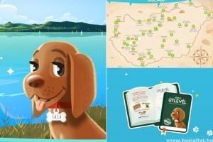 Kajla, a virtuális kölyökkutya segít a gyerekeknek megismerni Magyarországot a nyári szünetben