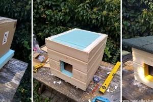 Kóbor cicáknak készít házilag profi hőszigetelt házat