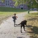 séta a kisgazdival